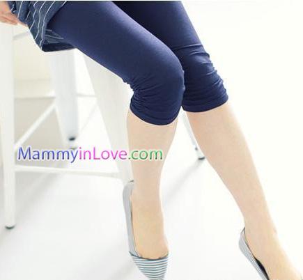 กางเกงเลคกิ้งคลุมท้อง ผ้าคอตตอน : สีน้ำเงิน รหัส PN047