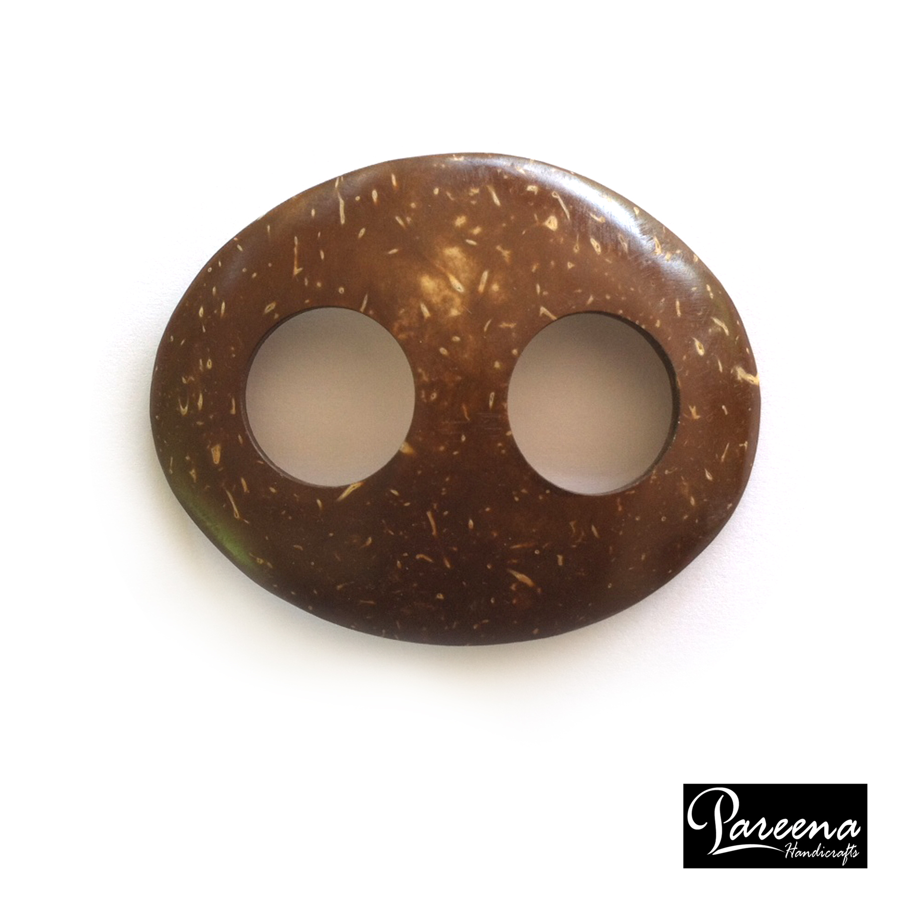 Coconut Shell Buckle Oval (หัวเข็มขัดกะลามะพร้าวรูปวงรี)