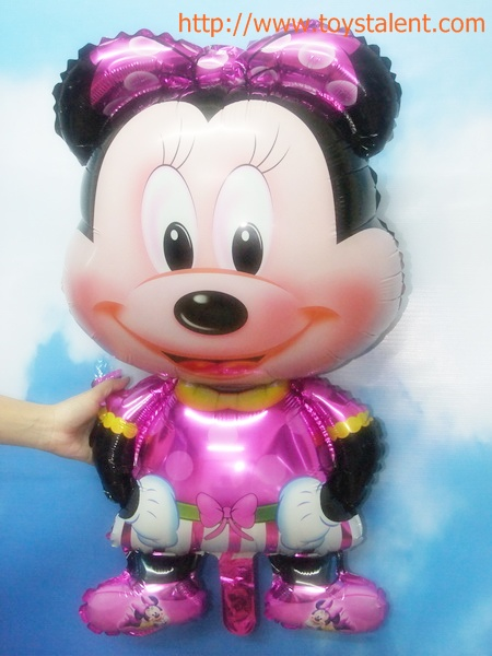 ลูกโป่งฟลอย์ตัวการ์ตูน Minnie Mouse (ใหญ่) - Minnie Mouse Foil Balloon / Item No. TL-A113
