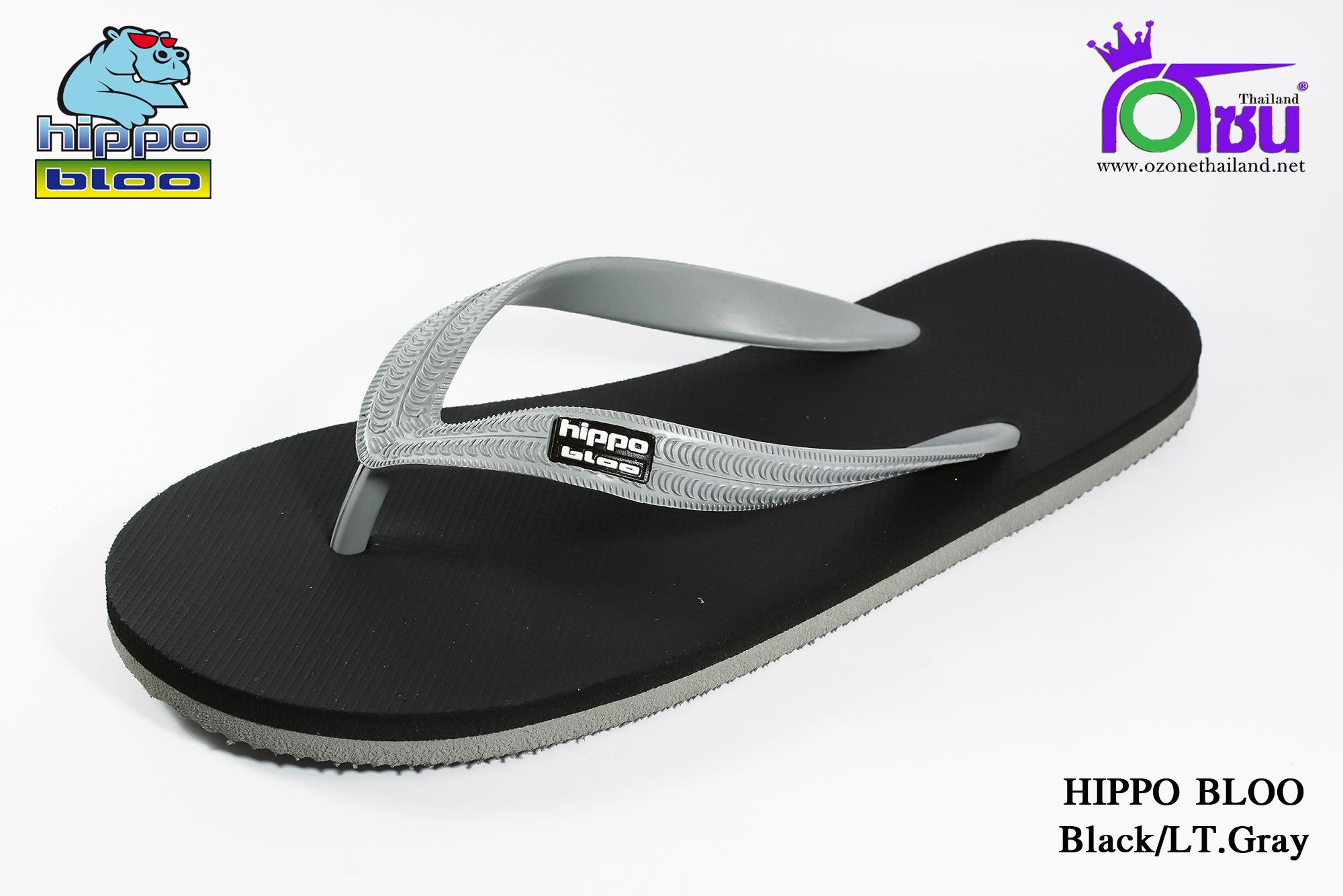 รองเท้าแตะ Hippo Bloo ฮิปโป บลู สีเทาดำ เบอร์ 9,9.5,10,10.5,11,12,13