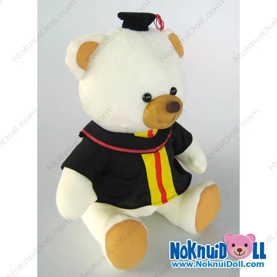 ตุ๊กตาหมีนั่งปริญญาใส่ชุดครุย