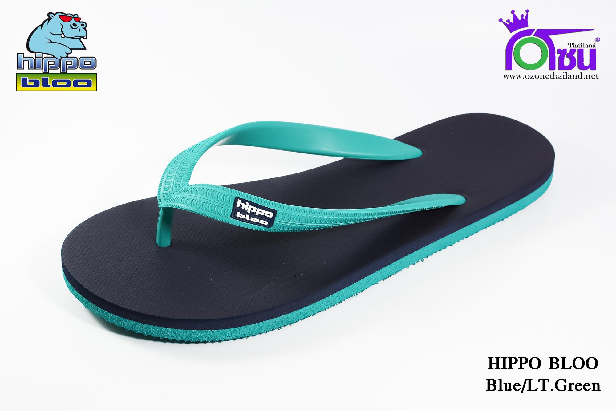 รองเท้าแตะ Hippo Bloo ฮิปโป บลู สีฟ้ากรม เบอร์ 9,9.5,10,10.5,11,12,13 สำเนา
