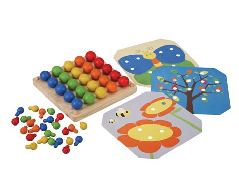 ของเล่นไม้ ของเล่นเด็ก ของเล่นเสริมพัฒนาการ Creative Peg Board (ส่งฟรี)