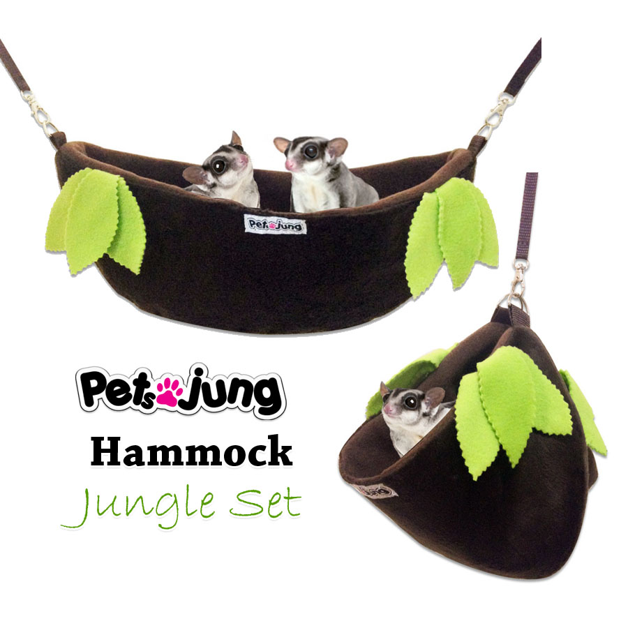 PJ-HAM002-JG2 PetsJunG - Hammock Jungle Set เปลญวน (35x12cm.)