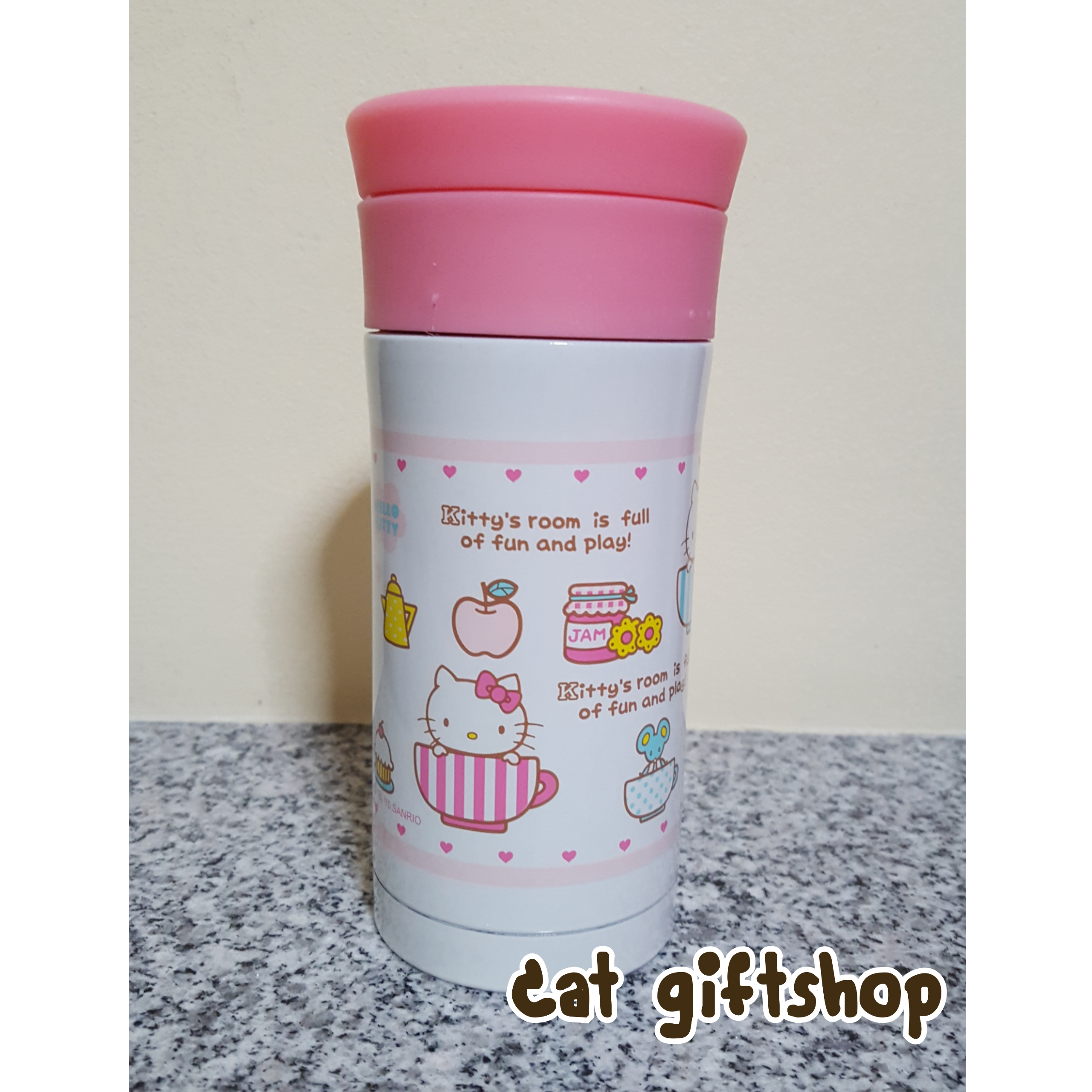 พร้อมส่ง :: กระบอกน้ำ เก็บร้อน-เย็น Hello kitty 350 ml.