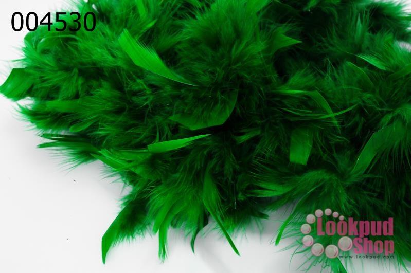ขนนกเฟอร์ สีเขียวนกแก้ว (1เส้น)
