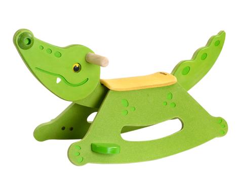ของเล่นไม้ ของเล่นเด็ก ของเล่นเสริมพัฒนาการ Rocking Alligator (ส่งฟรี)
