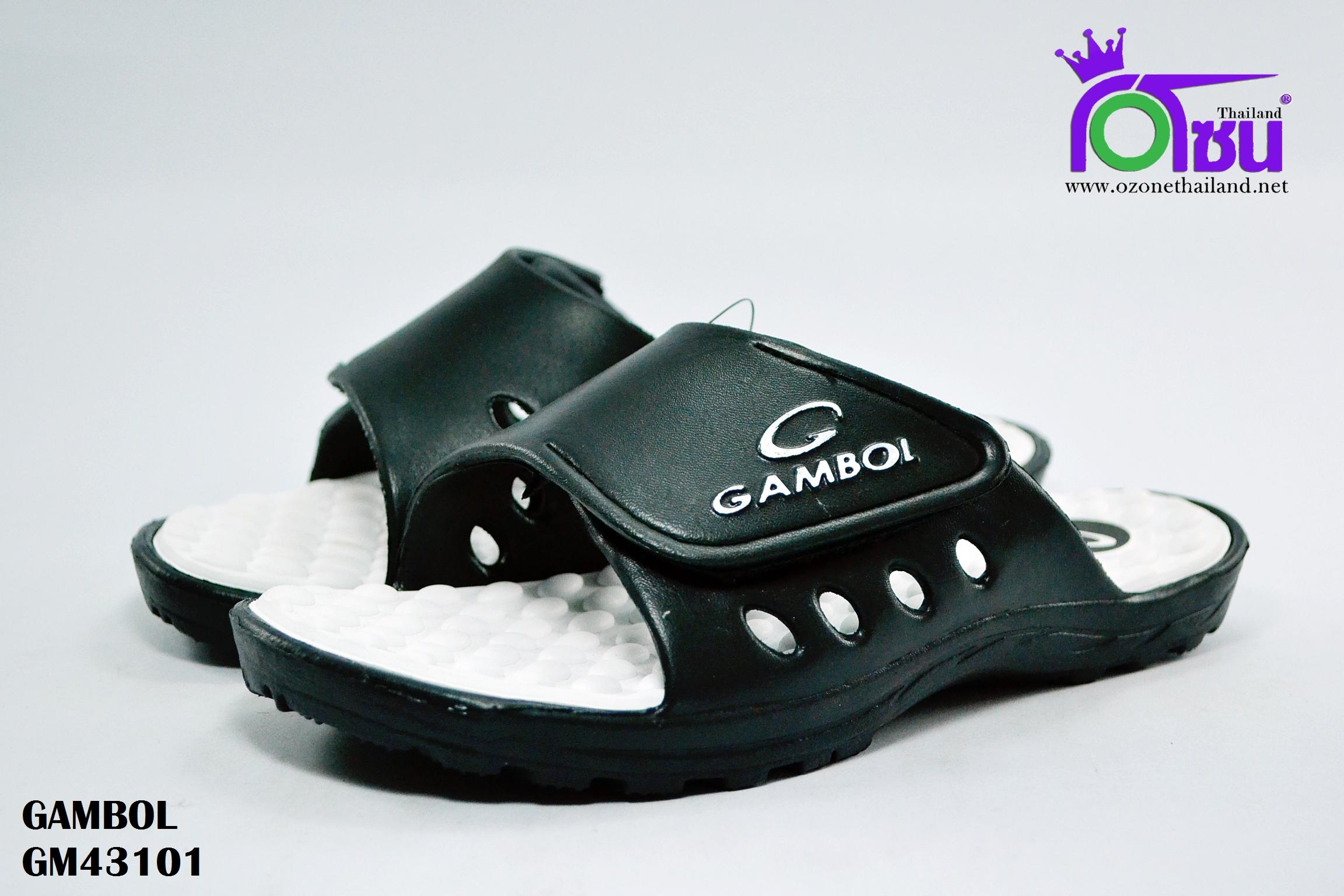 รองเท้าแตะ GAMBOL แกมโบล รุ่น GM 43101 สีขาว เบอร์ 4-9