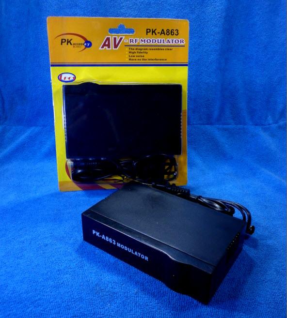 เครื่องแปลงสัญญาณ AV เป็น RF ให้ใช้กับ TV รุ่นเก่า