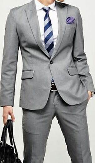 ใหญ่พิเศษ!!เสื้อสูทแฟชั่นชาย ปกปิด YAG Size No.44 46 เทา