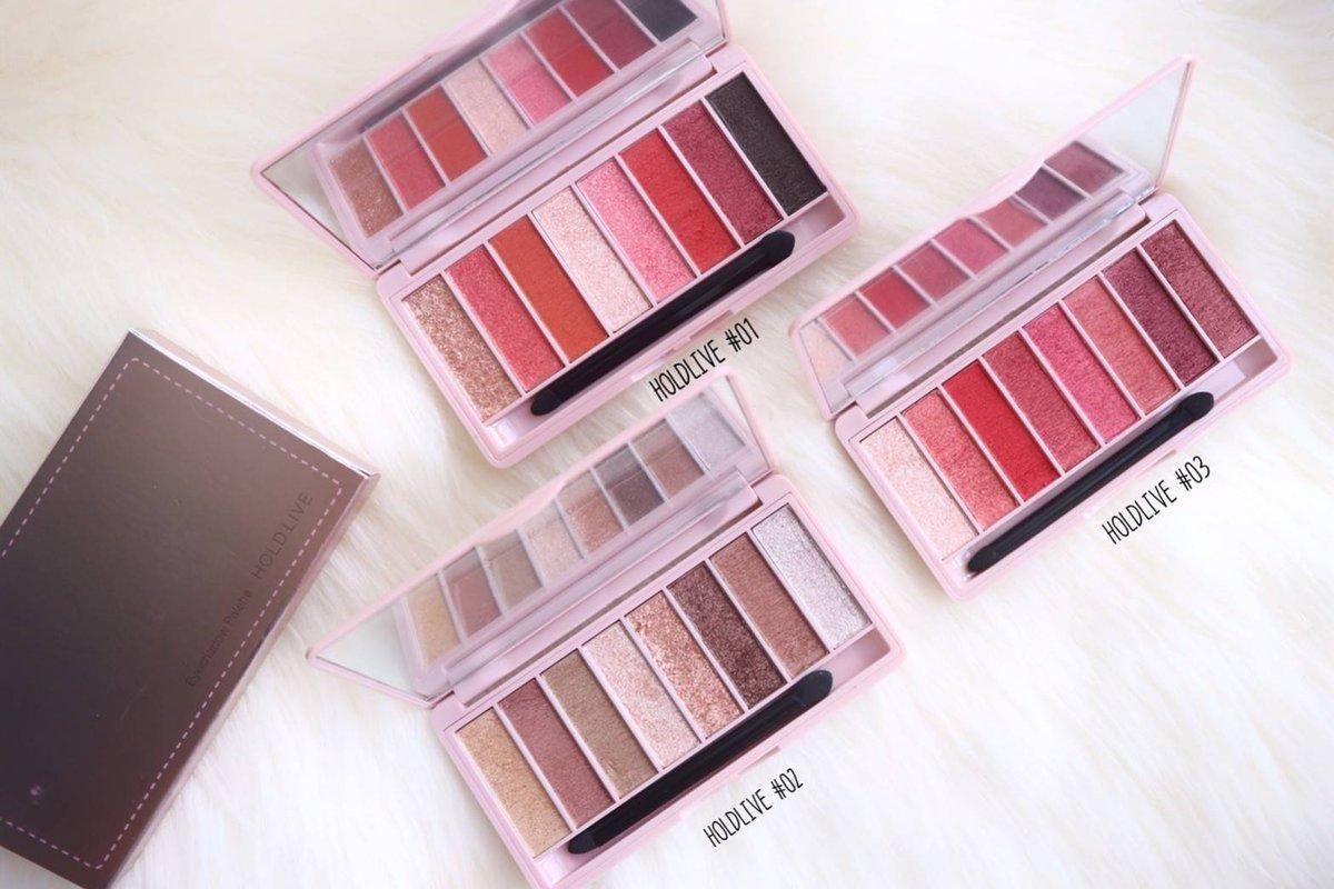 HOLD LIVE Earth Color Eye Shadow Palette พาเลทอายแชโดว์ 8 ช่อง ราคาปลีก 150 บาท / ราคาส่ง 120 บาท