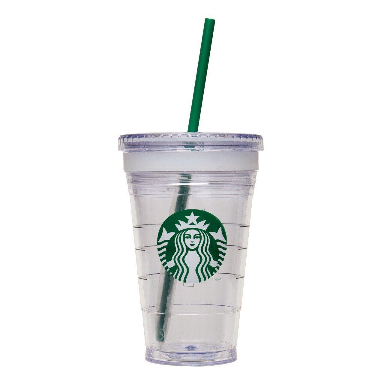 พร้อมส่ง :: แก้วน้ำ Starbucks 2 ชั้น พร้อมหลอด