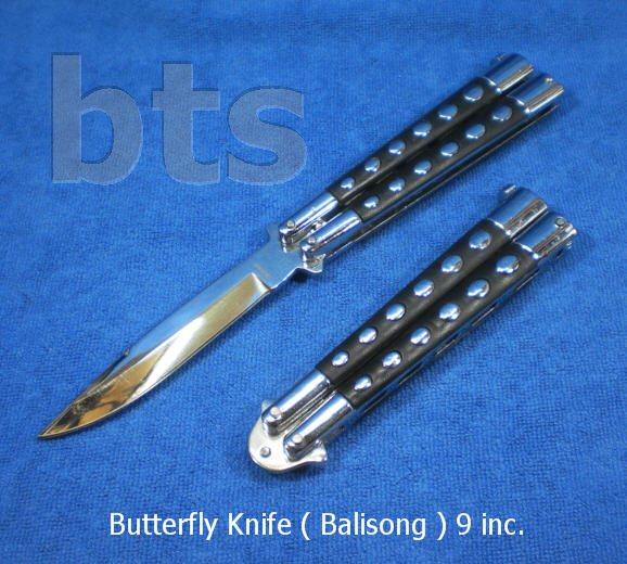 มีดควง (Butterfly Knife หรือ Balisong) สแตนเลสชุบโครเมี่ยม
