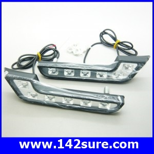 LFC027 ไฟตัดหมอก เดย์ไลท์LED จำนวน1คู่ แสงสีขาว 2*6 LED DRL Driving Daytime Running DayLight สำหรับติดตั้งรถยนต์