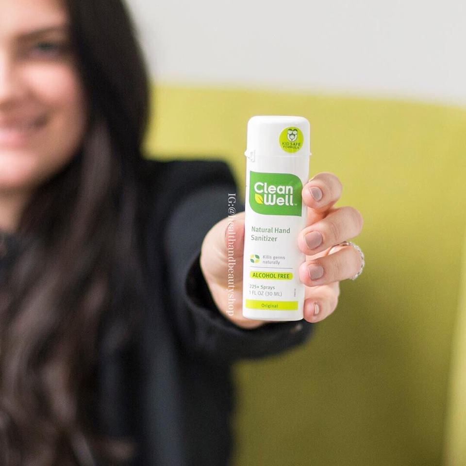 Clean Well, Natural Hand Sanitizer, Alcohol Free, Original, 1 fl oz (30 ml)