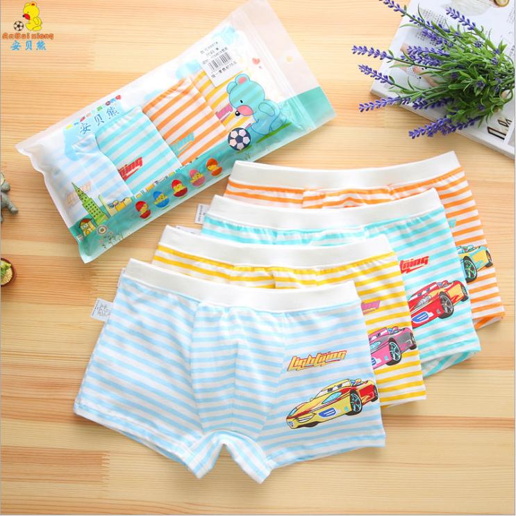 กางเกงในเด็ก คละสี (1 ถุง มี 4 ตัว แพ็ค 5 รวม 20ตัว) ไซส์ L อายุ 4-5 ปี