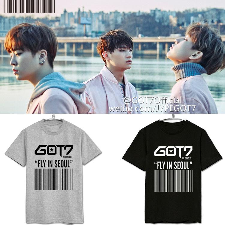 เสื้อยืด (T-Shirt) GOT7 - FLY IN SEOUL