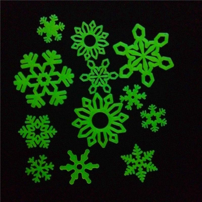 ชุดตัวติดตกแต่งเรืองแสง Glow in the Dark ชุด Snow หิมะเรืองแสง