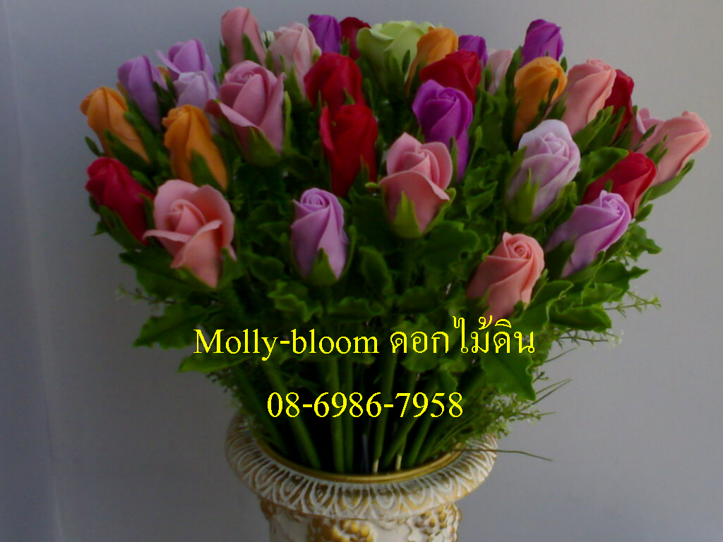 ดอกกุหลาบหลากสีสัน