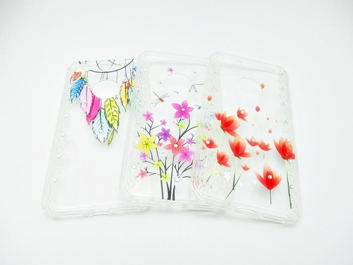 เคส tpu แต่งเพชร ลายดอกไม้ ไอโฟน 7 (4.7 นิ้ว)