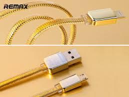 แพคคู่ 2 ชิ้น สายชาร์จไอโฟนสีทอง REMAX GOLD Series