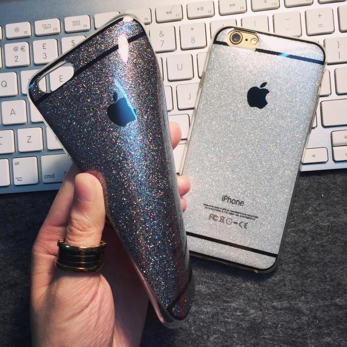 เคสนิ่ม Glitter โลโก้ apple ไอโฟน 6/6s plus 5.5 นิ้ว