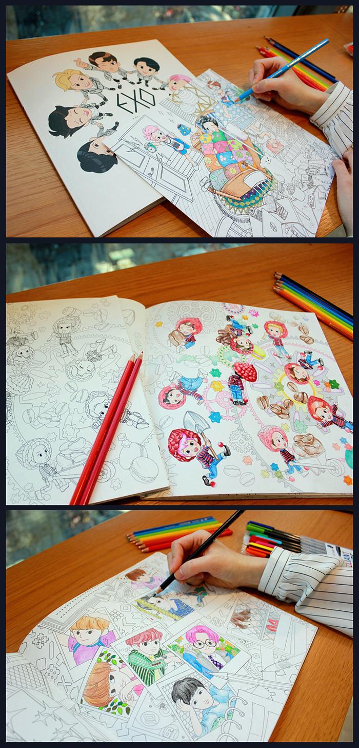 สมุดระบายสี EXO (แฟนเมด)