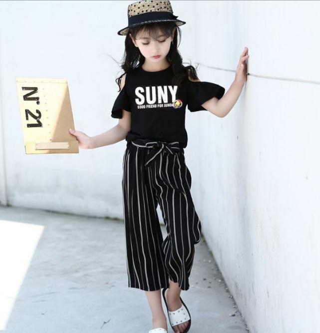 เสื้อ+กางเกง สีดำ แพ็ค 6 ชุด ไซส์ 110-120-130-140-150-160 (เลือกไซส์ได้)