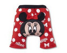PP-DN2 BUSHA Disney กางเกงก้นบาน ขาสั้น ผ้ายืด ลาย Minnie Size 100