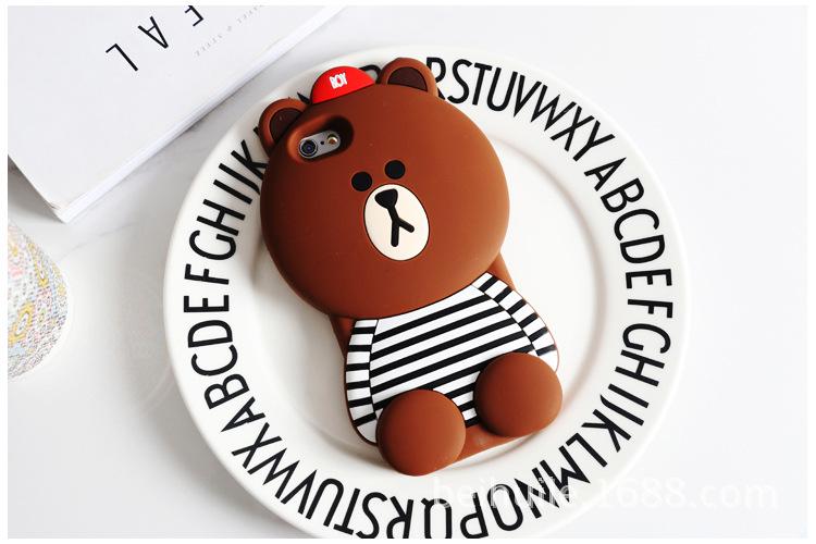 เคสหมีบราวน์3D ไอโฟน 7 4.7 นื้ว