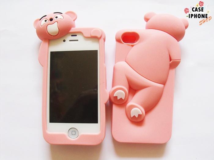 เคสหมี 3D ปีนฝาหลัง ไอโฟน 4/4s