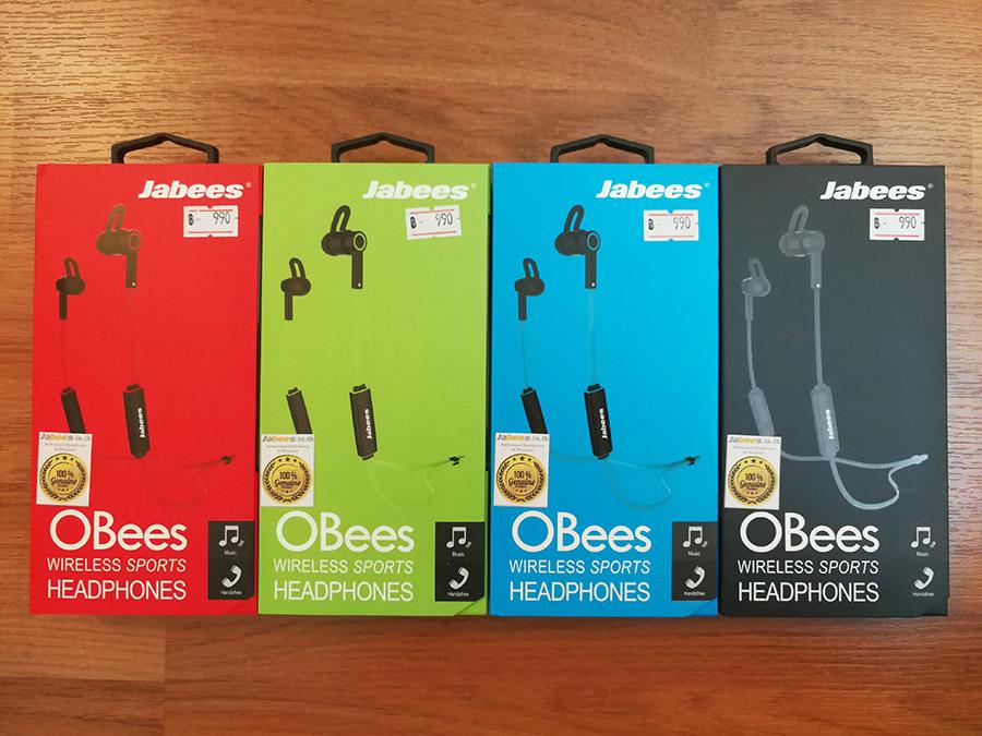 Jabees Obees Bluetooth หูฟังบลูทูธมีไมค์ เสียงนุ่มฟังสบาย รูปทรงทันสมัย ราคาประหยัด