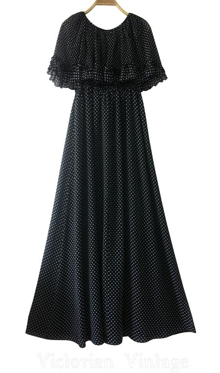 เดรสยาว ชุดออกงาน Vintage Maxi Dress