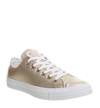 Converse Allstar Low Lthr Blush Gold White Exclusive