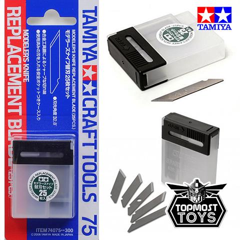 TAMIYA Modelers Knife Replacement Blade (25pcs.) 74075