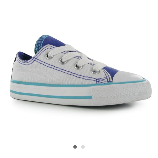 Converse Double Tongue Infant Trainers สีขาว
