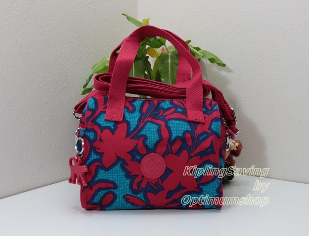 Kipling Keeya S Funky Flower C กระเป๋าใบเล็ก หิ้วได้ สะพายได้ ขนาด 20 W x 15.5 H x 11.5 D cm Small