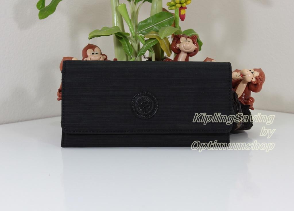 Kipling Brownie Dazz Black กระเป๋าสตางค์ใบยาว ขนาด 19 L x 10 H x 3 W cm