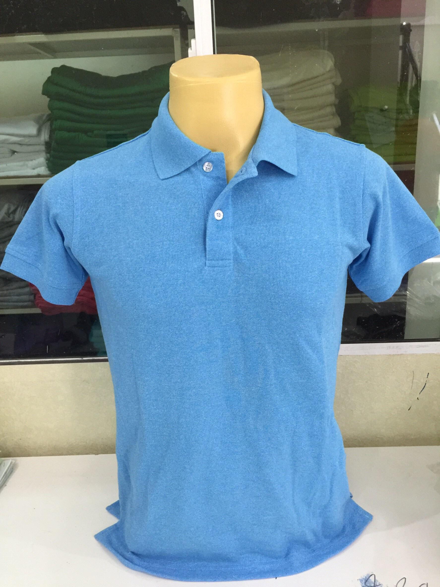 เสื้อโปโลชาย สีฟ้า ไซส์/M/รอบอก38นิ้ว