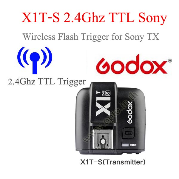 Godox X1T-S Auto TTL 2.4Ghz Wireless Trigger TX for Sony Flash speedlite ตัวส่งแฟลชไร้สายแบบออโต้