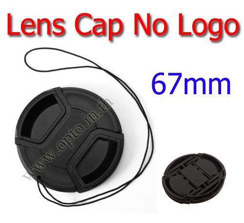 67mm. ฝาปิดหน้าเลนส์ไม่มีโลโก้สำหรับกล้อง Canon Nikon Sony Sigma Tamron