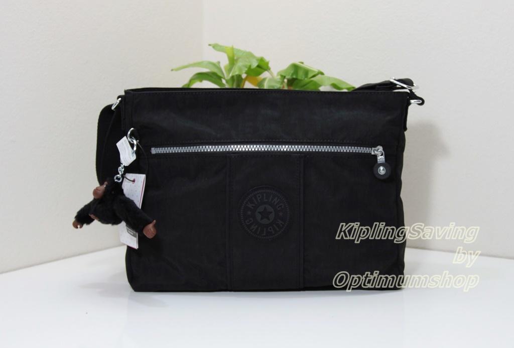 Kipling Joel Black กระเป๋าสะพายข้าง ขนาด L12 x H 9.5 x D 4.75 นิ้ว