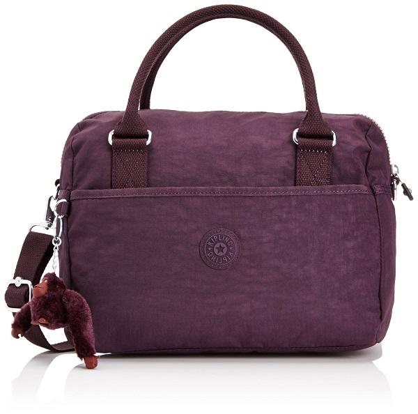 Kipling Beonica Dark Auberg จากเบลเยี่ยม กระเป๋าสะพายข้าง ขนาด 33.5 L x 22.5 H x 16.5 W cm medium