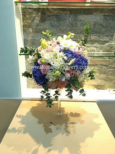 แจกันดอกไม้สด หรูหรา (L)