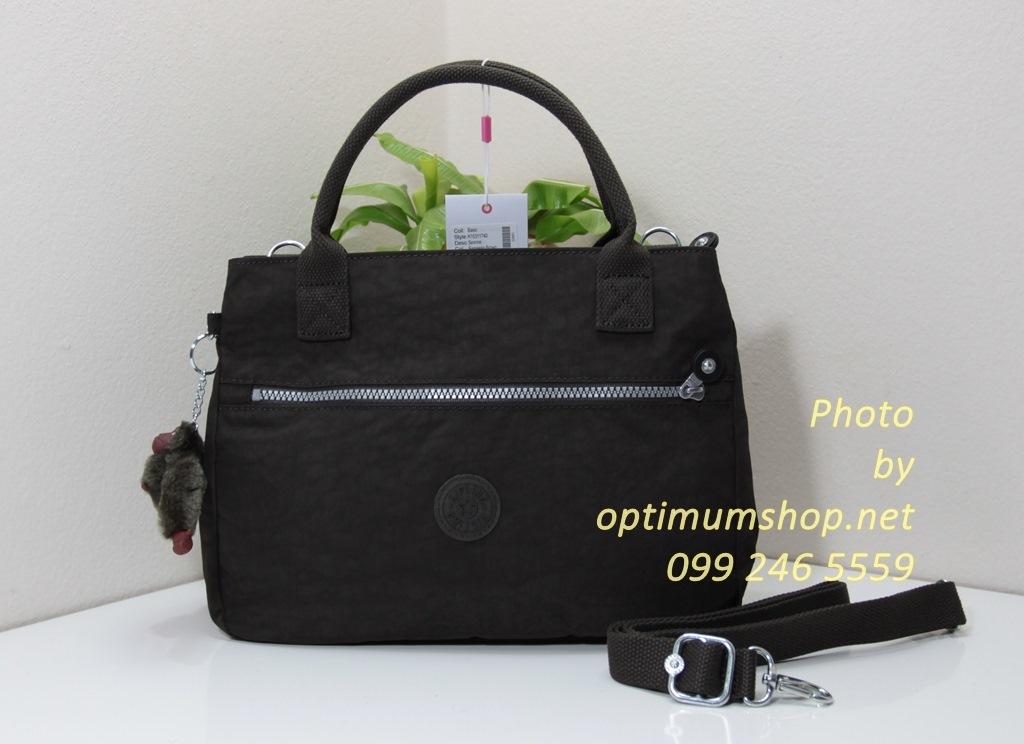 Kipling Sevrine Expresso Brown กระเป๋าถือ หรือ สะพาย ขนาด 32L X 22.5H X 11W cm
