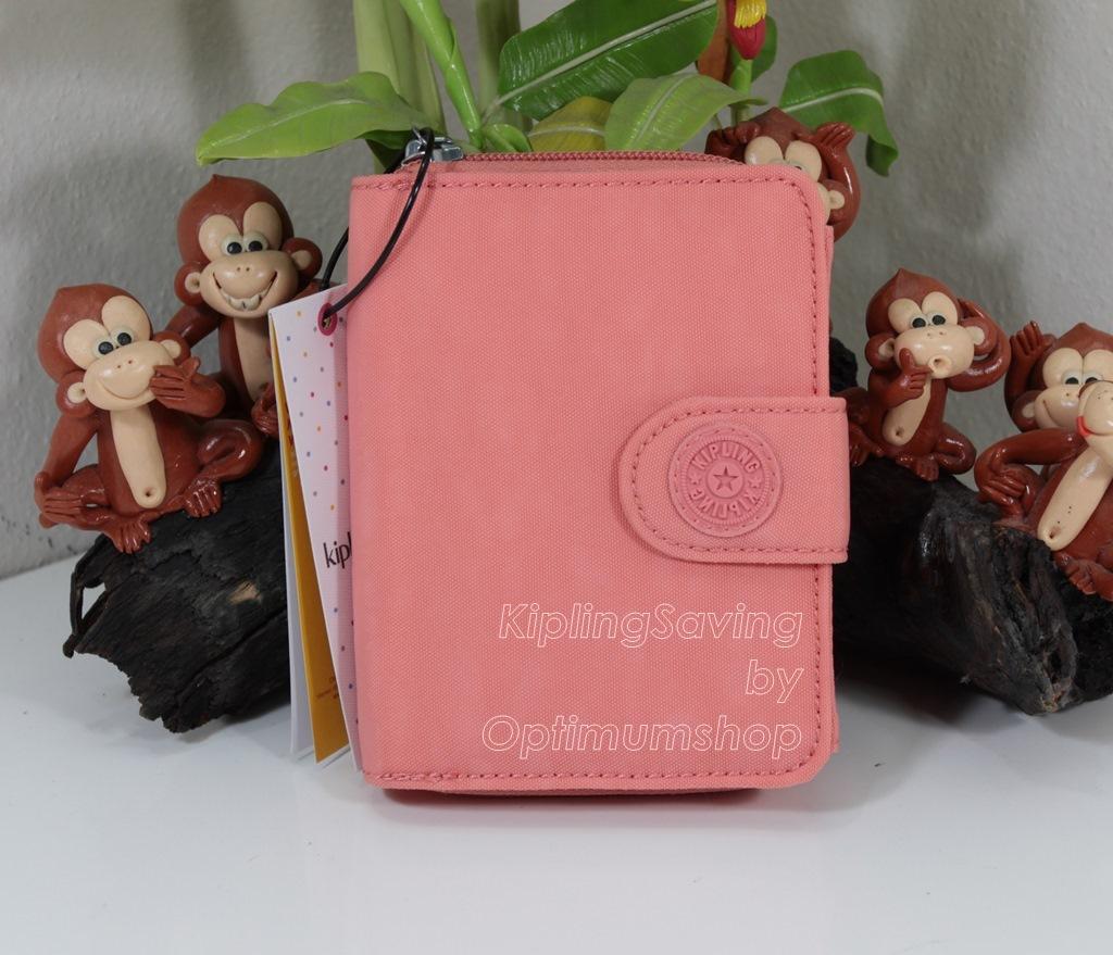 Kipling New Money Pink Sherbet เป็นกระเป๋าสตางค์ ขนาดกระชับมือ ขนาด 4 x 5.25 x 1 นิ้ว