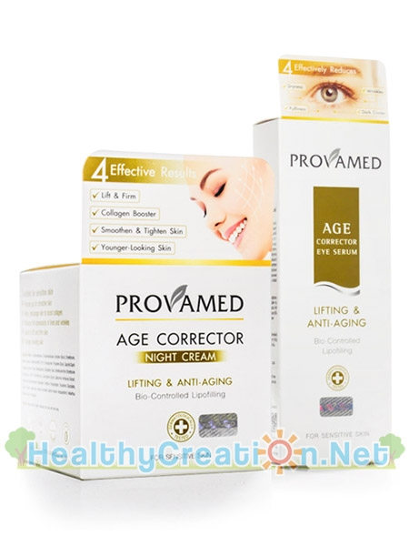 Provamed Age Corrector Night Cream 50g. & Eye Serum 15 ml. [แพ็คคู่]