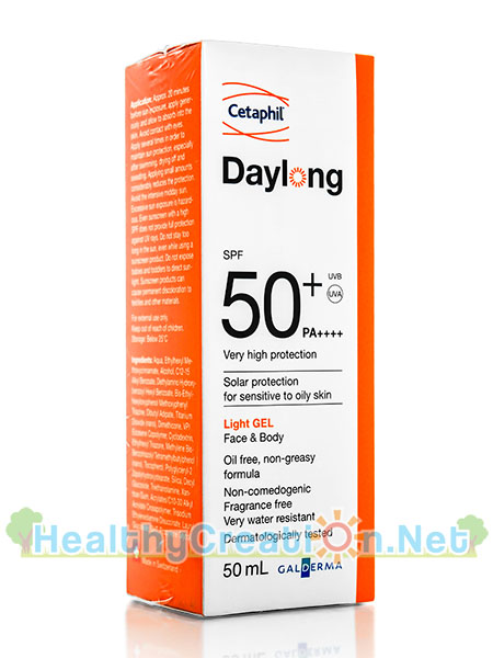 Cetaphil Daylong SPF50+ PA++++ เซตาฟิล เดย์ลอง [50 ml.] ป้องกันแสงแดดผิวหน้าและผิวกาย