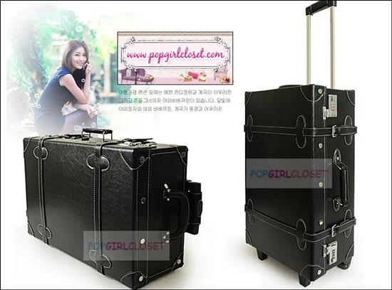 ยกเลิกการผลิต!!! กระเป๋าเดินทางวินเทจสไตล์เกาหลี ดีไซน์ออริจินัล 2 ล้อ คันชักด้านนอก สีดำ BLACK หนัง PU มี 3 ไซส์ 20, 22, 24 นิ้ว (Pre-order ราคาแต่ละรุ่นอยู่ด้านในนะคะ)