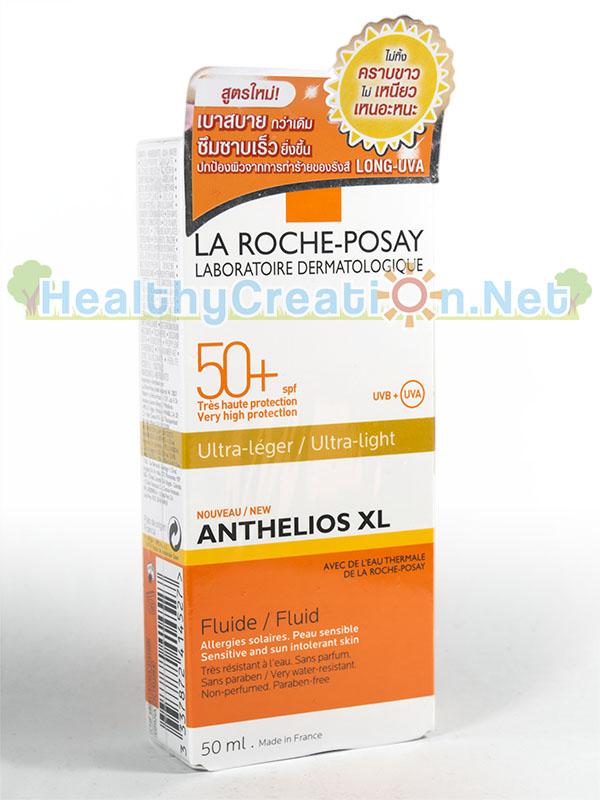 Laroche-Posay Anthelios XL Ultra-light Fluid SPF 50+ [50 ml.] ฟลูอิดกันแดดสำหรับผิวหน้า สำหรับผิวแพ้แสงแดด ระคายเคืองง่าย สูตรกันน้ำ ปราศจากน้ำหอม